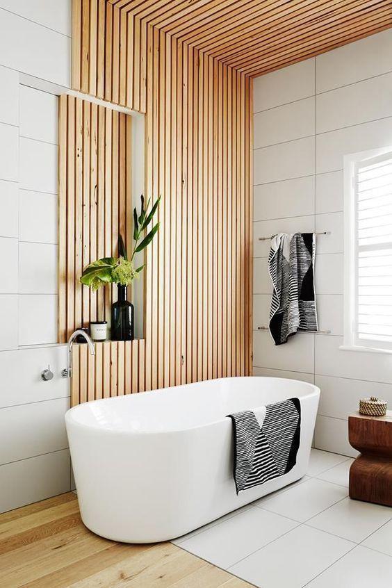 Tendencia en estilos de decoración de interiores Mindfulness, interiores serenos en armonía de tonos neutros, el baño al estilo spa @Utrillanais