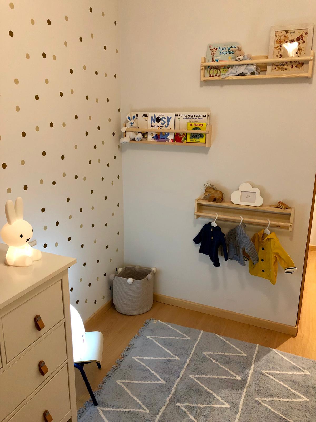 Después de proyecto de diseño de interiores infantil en tonos neutros y estilo nórdico-clásico en Madrid por Ana Utrilla @Utrillanais