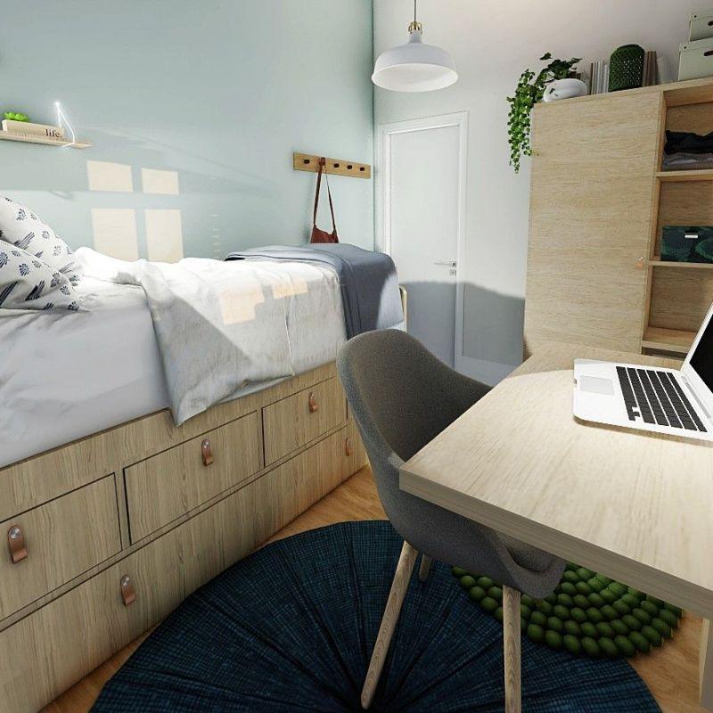 Infografía en 3D de salón comedor en tonos neutros y estilo farmhouse moderno. Proyecto de diseño de interiores en Santander para casa rural con encanto. #Diseñocasasconencanto #AnaUtrillainteriorismo @Utrillanais