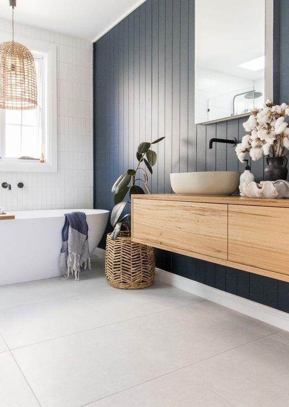 Paredes azules para el baño, una forma de integrar el color pantone 2020 en la decoración de interiores de tu hogar @utrillanais