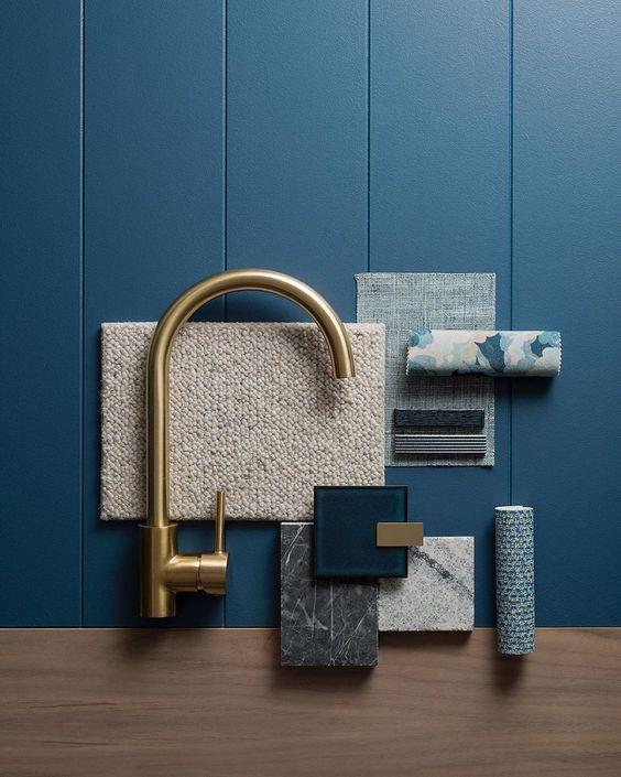 Material Moodboard Interior Design creative proyect, ejemplo de materiales y gama de colores en moodboard, como ejemplo visual antes de llevar a cabo tu decoración de interiores @utrillanais