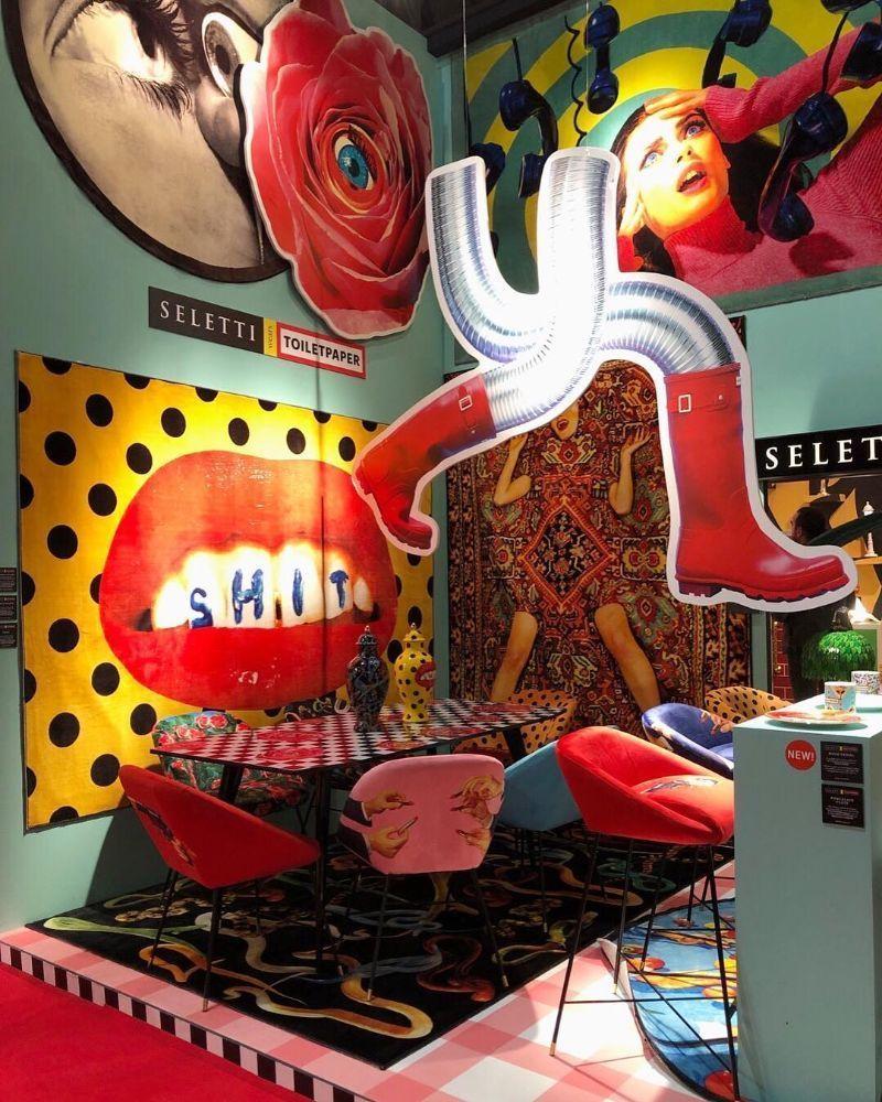 Espacio Seletti en la Feria del mueble de Milán 2019, tendencia maximalista 2020 en interiorismo @Utrillanais