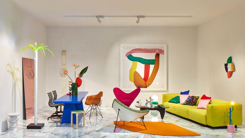 Espacio Vitra en la feria del Mueble de Milán 2019, tendencia estilo maximalista y arte pop, tendencias interiorismo 2020 @Utrillanais
