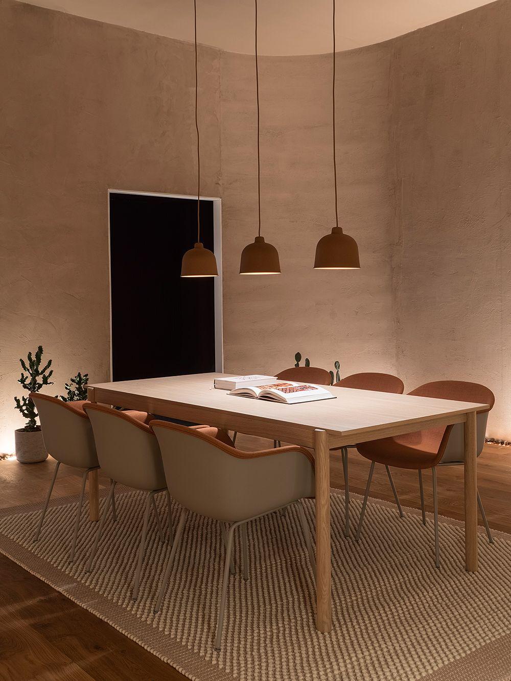 Espacio de comedor diseñado para el bienestar por Google en colaboración con Muuto, #InteriorDesignTrends @Utrillanais