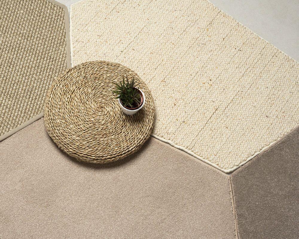 Diseño sostenible, circular, de NutCreative, diseño de alfombra trencadis, a través de retales de otros tejidos de alfombras, tendencias en diseño e interiorismo 2020 @Utrillanais