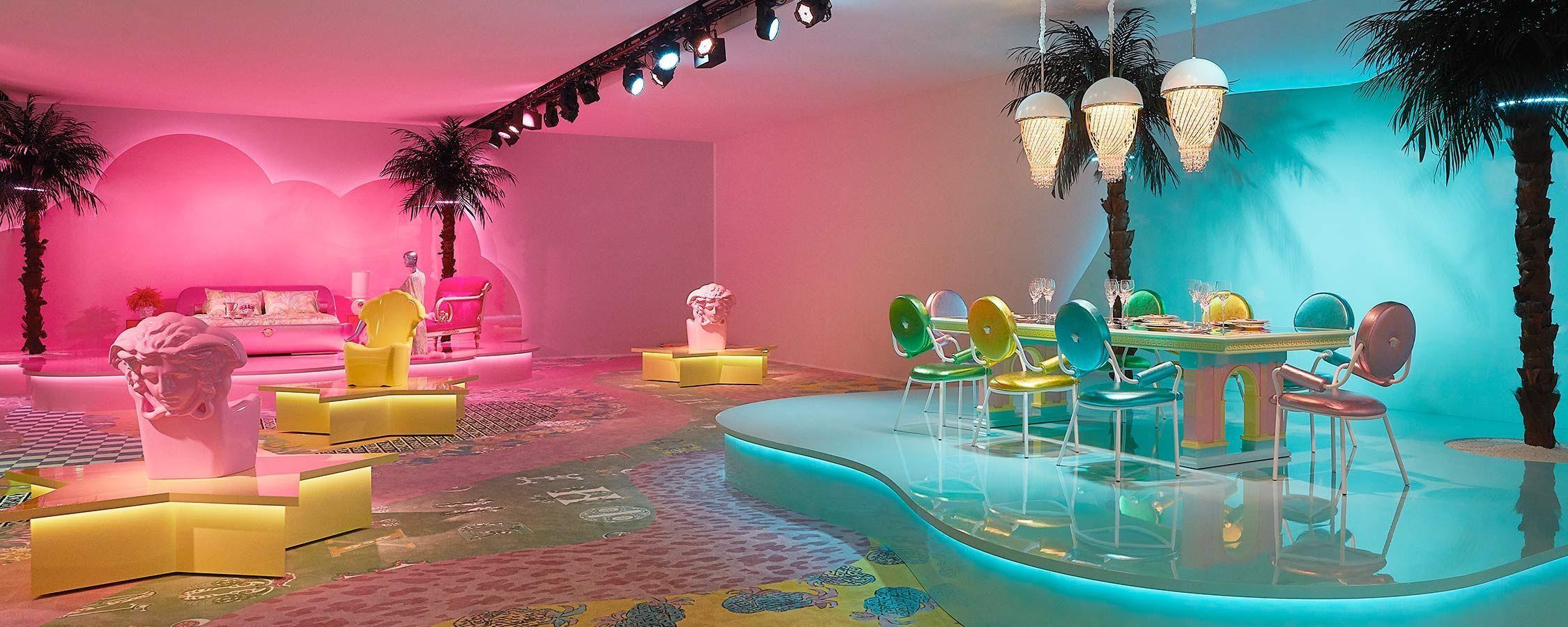 Espacio showroom de Versace Home en la semana del diseño en Milán 2019