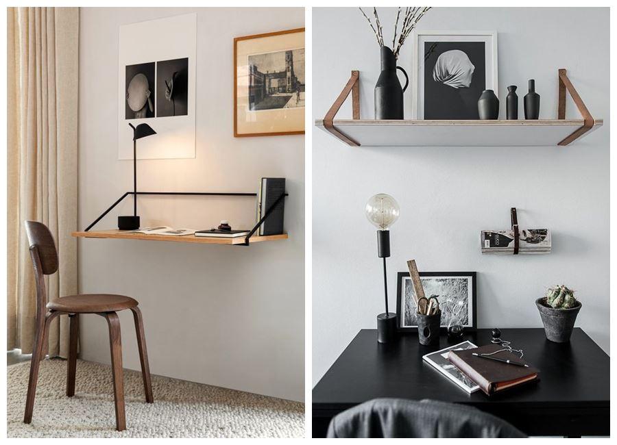 Espacios de trabajo en casa, de estilo escandinavo y tonos neutros #homeoffice @utrillanais