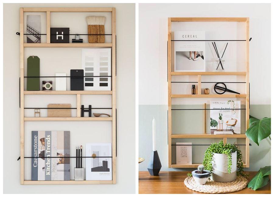 Estantería de pared de Ikea, para colocar libros o elementos de papelería en tu oficina en casa @utrillanais