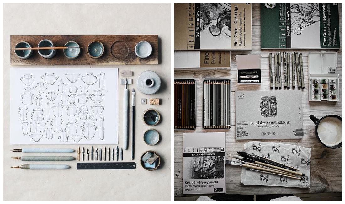 Espacios de trabajo para artesanos, ilustradores, diseñadores, desde casa, como crear una oficina en casa @utrillanais