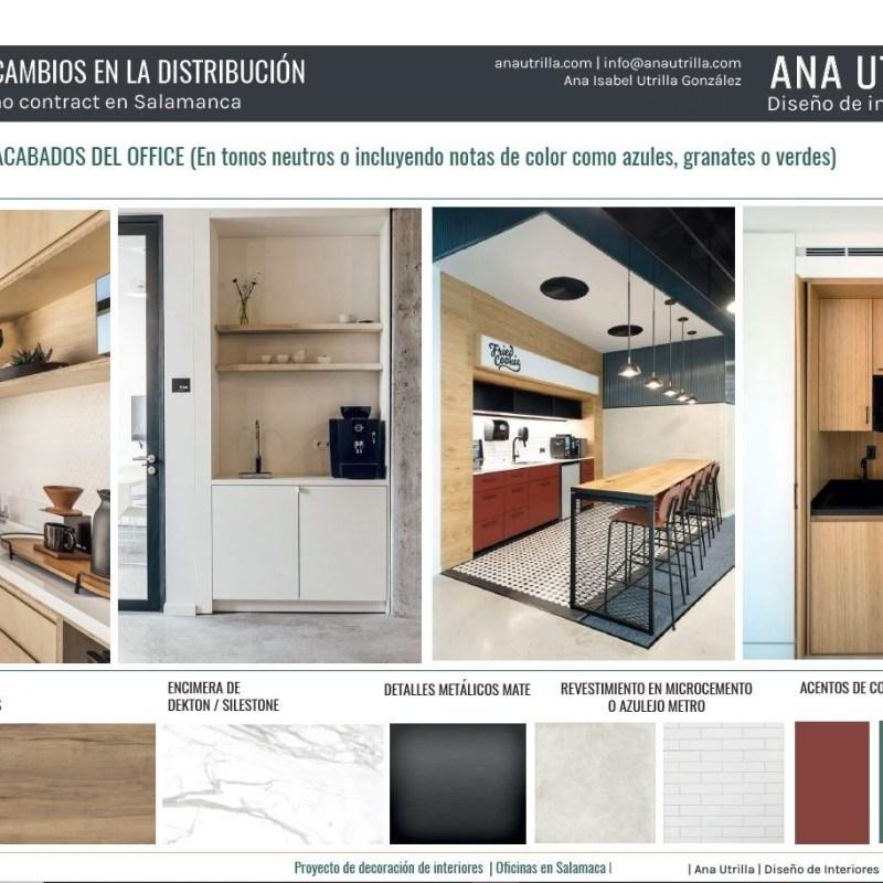 Manual de estilo decorativo propio, parte de proyecto de interiorismo contract a medida para oficinas en Salamanca. #Diseñodeinterioresonline #AnaUtrillainteriorismoonline