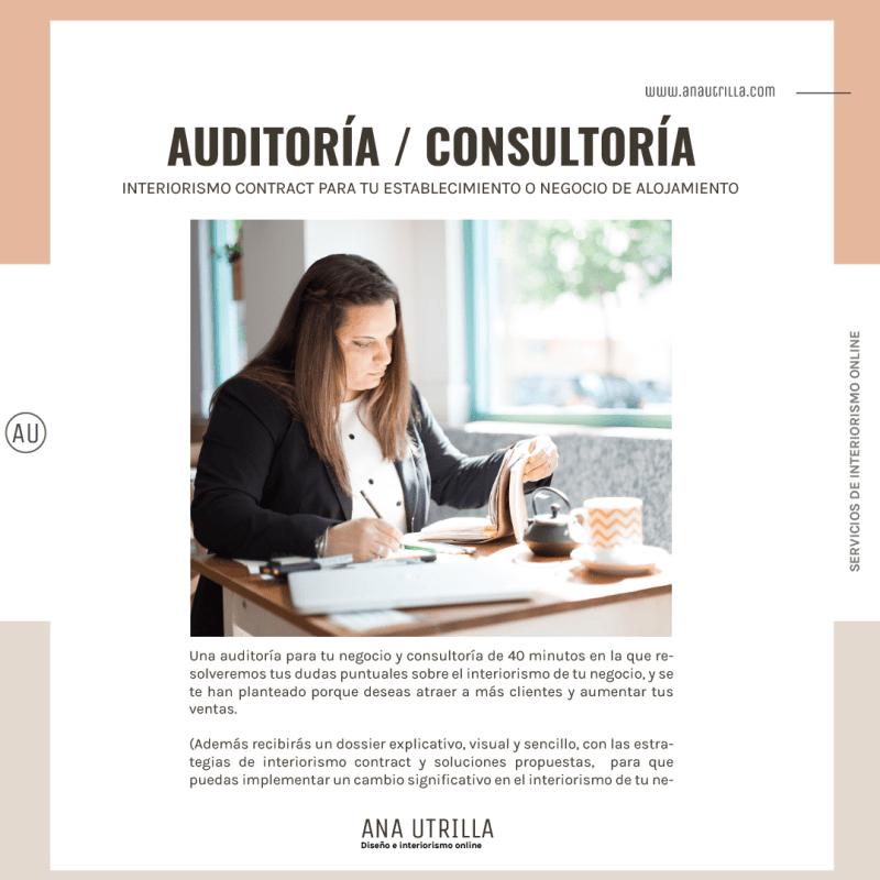 Servicio de asesoría- consultoría de interiorismo contract y estrategias de marketing, para aumentar los clientes y las ventas, para negocios de alojamiento rural y oficinas. #AnaUtrillainteriorismoonline