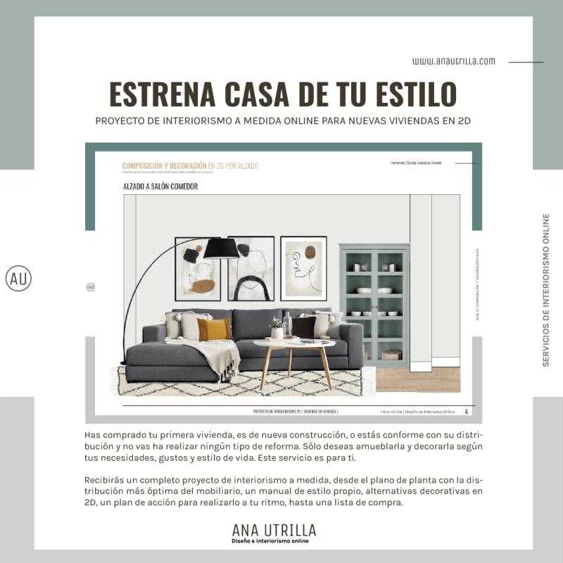 Proyecto de diseño e interiorismo a medida en 2D online. #AnaUtrillainteriorismoonline #AnaUtrillainteriorismo