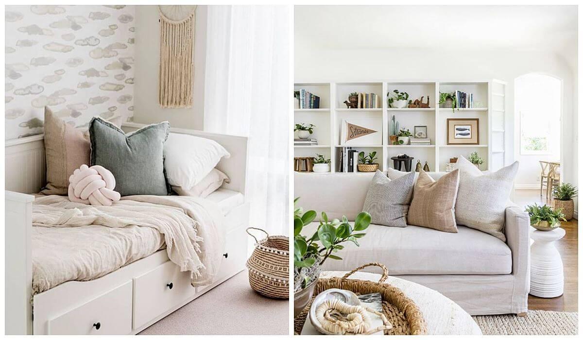Consejos imprescindibles para adaptar tu casa a invitados, cuando eres una persona muy casera, que disfruta de los momentos caseros en familia, añade a tu salón un sofá cama. #ConsejosDeco #AnaUtrilla #Interioristaonline