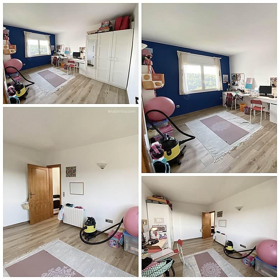 Fotografías del estado inicial de su oficina en casa, antes de mi asesoría en interiorismo y decoración de interiores en 2D online a medida. @Utrillanais #AnaUtrilla #Interioristaonline