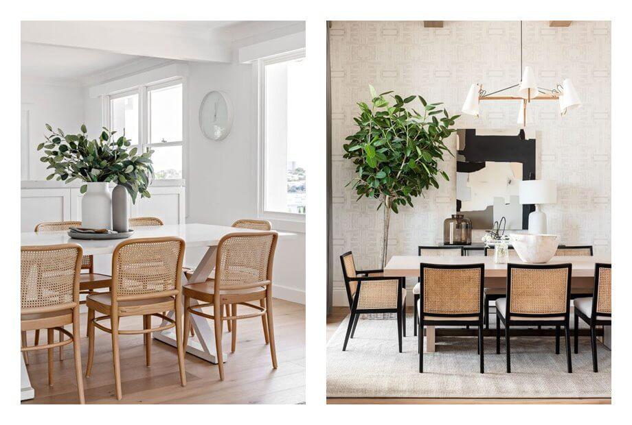 Espacios de comedor, de estilo nórdico moderno, y toques Art Deco moderno. Tonos neutros. Espacios luminosos. #AnaUtrilla #Diseñodeinterioresonline
