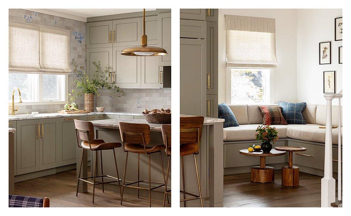 Espacio de cocina, de estilo transicional, decoración de interiores en tendencia 2021, una combinación de elementos vintage, clásicos con otros más contemporáneos #AnaUtrilla #interioristaonline