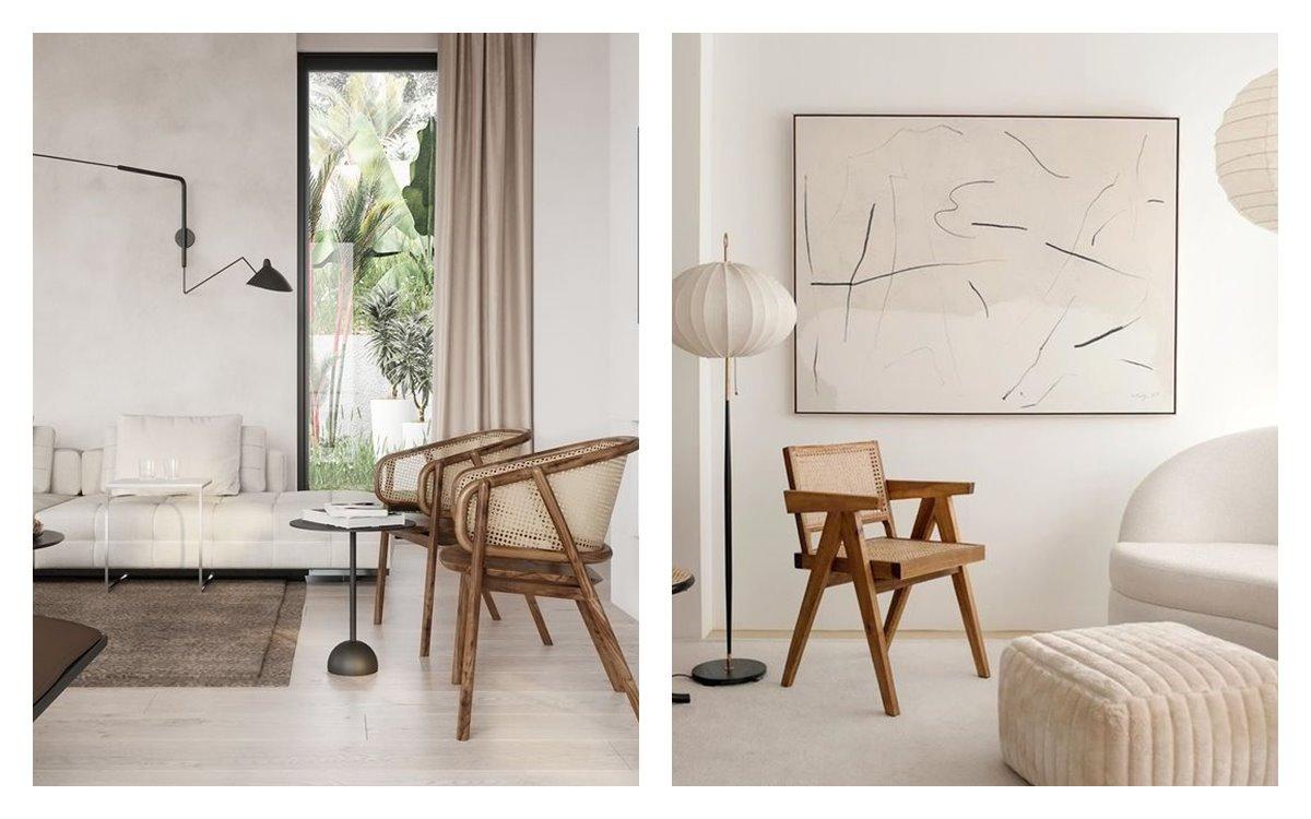 Ambientes neutros, luminosos, mobiliario de formas orgánicas y diseño nórdico. Así es el estilo nuevo nórdico, tendencia en decoración de interiores 2021. #AnaUtrilla #Diseñodeinterioresonline