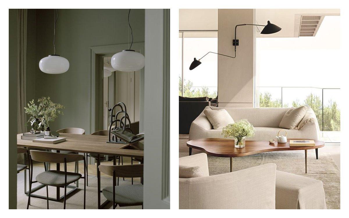 Estancias de comedor y zona de estar, en suaves tonos neutros, ambientes en armonía, luminosos, acogedores y cálidos, en estilo nuevo nórdico, en tendencia 2021. #AnaUtrilla #Diseñodeinteriores