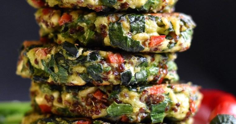 Vegobiffar med quinoa
