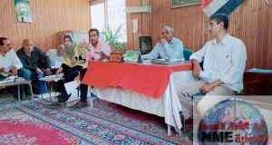 مناقشة جدول أعمال اجتماع مديري الجمعيات ورؤساء الاقسام بابشواي الزراعيه