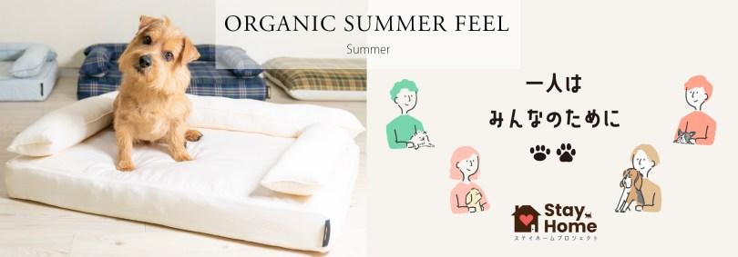 クッション付きベッドカバー:オーガニック・サマーフィール|犬のベッド:アンベルソ