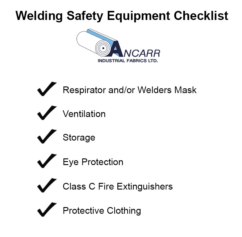 Welding Safety Equipment Tips & Checklist - Ancarr Industrial Fabrics