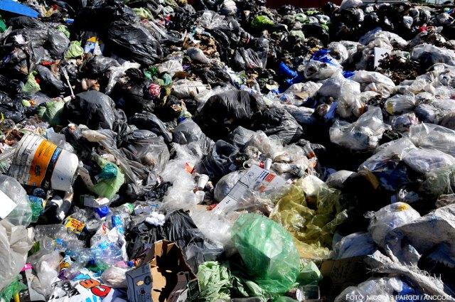 Gran cantidad de basura en el CEAMSE
