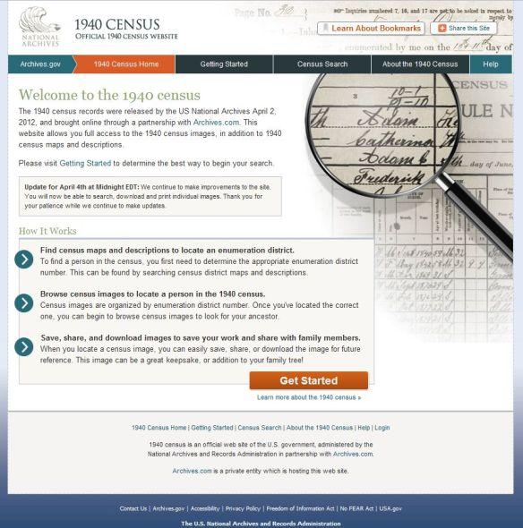 Official 1940  Census website