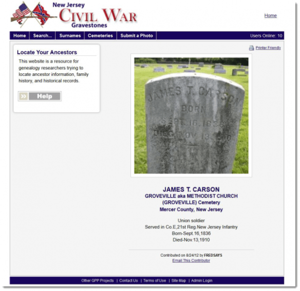 james-carson-nj-civil-war-gravestones