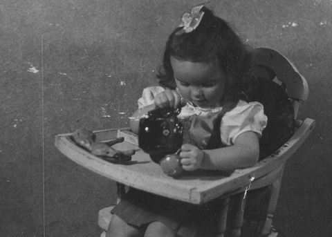 Vera Marie Badertscher tea time