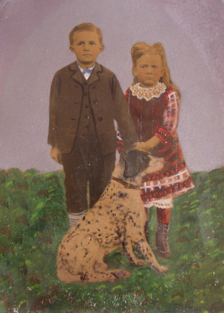 Maude Bartlett (Stout) and brother