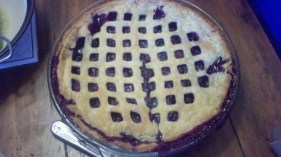 Blueberry pie from The Rector Cook Book