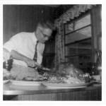 Paul Kaser Carving Turkey, Thanksgiving 1957