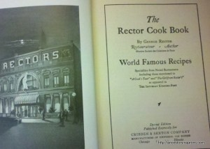 Vintage cookbook: The Rector Cook Book