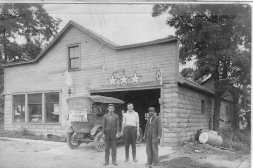 Grandfather Guy Anderson's Garage, Killbuck.
