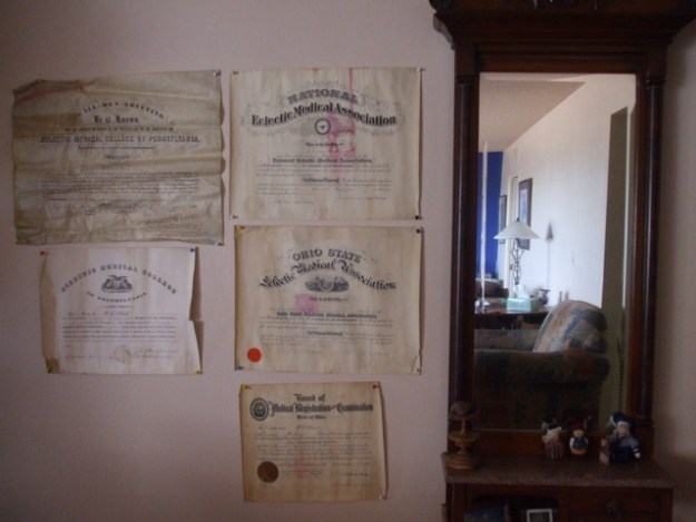 Doctor William Stout's Certificates