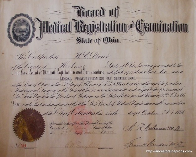 William Stout Ohio Medical license