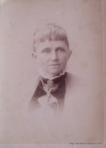 My great-grandmother, Harriet Stout