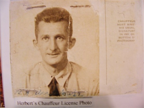 Herbert G. Anderson chauffeur license