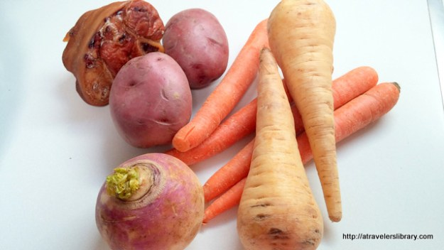 Ingredients for Roots Stew recipe