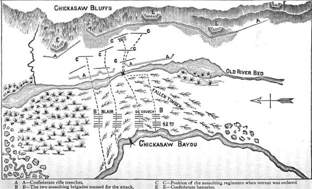 Civil War Chickasaw Battle Map