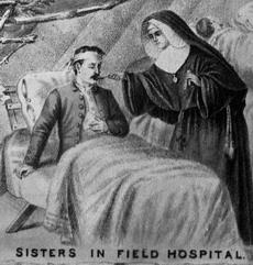 Nuns as nurses in Civil War