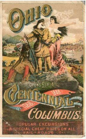 1888 state centennial postcard