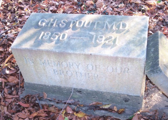 George Stout tombstone