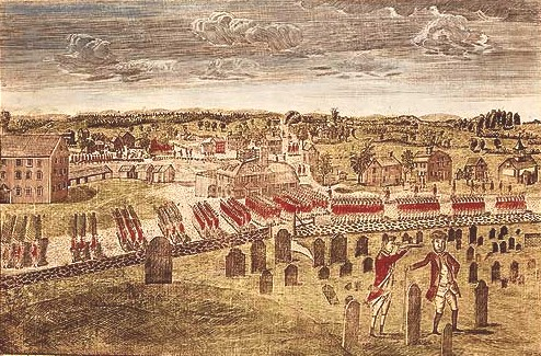 British Army Marching To Concord
