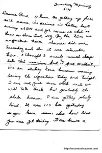 Letter from Dallas World's Fair 1936