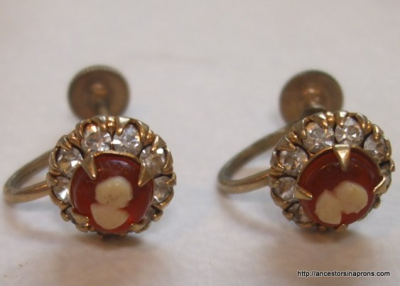 Antique jewelry - cameo earrings