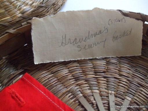 Mary Morgan's sewing basket
