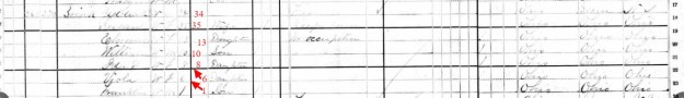 1880 Census Killbuck Township, Holmes County, Ohio