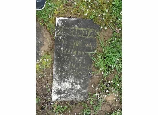 Tombstone of Lucinda Brink